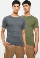 Replay - Basic jersey tee - grey & green