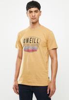 O'Neill - Backwash short sleeve tee - camel
