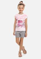 Quimby - Girls graphic tee - pink