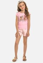 Quimby - Girls puppy tee - pink