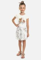 Quimby - Girls puppy tee - off white