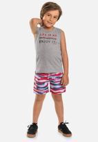 Quimby - Boys tank top & microfibre shorts set - grey