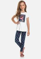 Quimby - Girls  polka dot leggings - multi