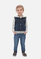 UP Baby - Baby boys denim vest - navy