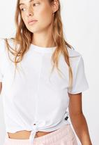 Cotton On - Tie up rib T-shirt - white