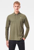 G-Star RAW - Core long sleeve polo - khaki green