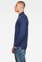 G-Star RAW - Core long sleeve polo - blue