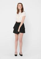 ONLY - Alba short sleeve top - white
