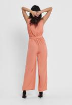 ONLY - Mina sleeveless jumpsuit - peach