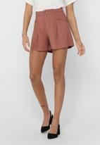 ONLY - Electra-aris high waist shorts - red