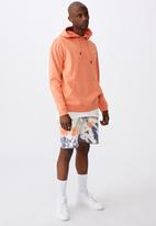 Factorie - Oversized icon hoodie - washed orange