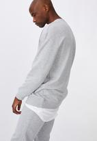 Factorie - Oversized crew - grey marle