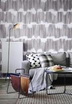 Sixth Floor - Waves printed vinyl wallpaper - grey & white