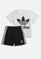 adidas Originals - Short tee set - white & black