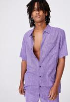 Factorie - Resort shirt - purple noise