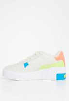 PUMA - Cali wedge sunset bv wn's - marshmallow-Puma white-sharp green