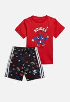 adidas Originals - Short tee set - red & black