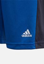 adidas Originals - Boys colourblock shorts & tee set - blue & navy