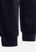 adidas Originals - Linear colourblock pants - navy & white