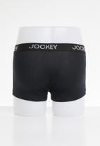 Jockey - 3 Pack great value trunks - black & grey