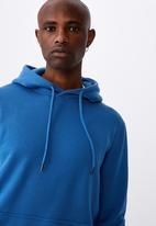 Factorie - Basic hoodie - cobalt smoke