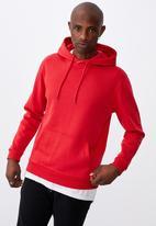 Factorie - Basic hoodie - red smoke