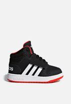 adidas Originals - Infants hoops mid 2.0 sneakers - core black/cloud white/hi-res red