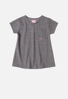 Quimby - Girls basic t-shirt - dark grey