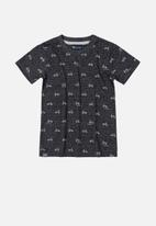 Quimby - Boys single jersey printed tee - black