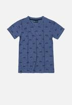 Quimby - Boys single jersey printed tee - blue