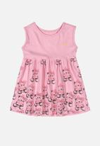 Quimby - Girls sleeveless dress - pink