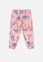 Quimby - Girls floral pants - pink