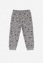 Quimby - Boys printed single jersey pants - grey