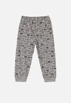 Quimby - Boys printed single jersey pants - grey