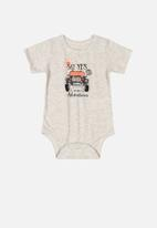 Quimby - Boys bodysuit & sweat bermuda set - light grey
