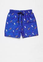 POP CANDY - Boys printed board shorts - blue