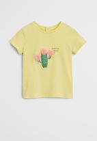 MANGO - Cactus short sleeve tee - yellow