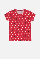 Quimby - Girls polka dot tee - red