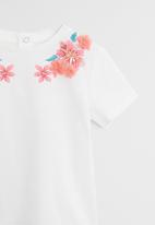 MANGO - Lupe short sleeve top - white