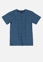Quimby - Boys printed short sleeve tee - blue
