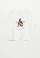 MANGO - Star short sleeve tee - natural