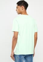 Billabong  - United stacked short sleeve tee - blue