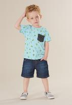 UP Baby - Boys printed tee - blue