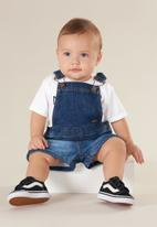 UP Baby - Baby boys denim dungaree - navy