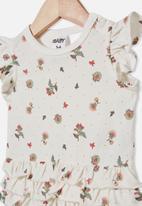 Cotton On - Alice ruffle bubbysuit - vanilla spotty floral