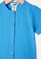 Cotton On - Mike short sleeve shirt - blue bird