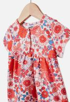 Cotton On - Milly short sleeve dress - red & blue