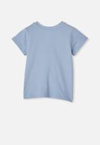 Cotton On - Jamie short sleeve tee - powder puff blue