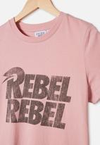 Free by Cotton On - Girls license classic short sleeve tee - pink