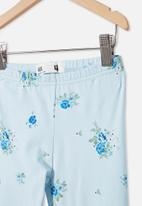 Cotton On - Huggie tights - frosty blue & ditsy floral